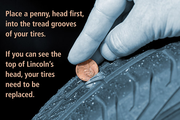 penny test tire tread