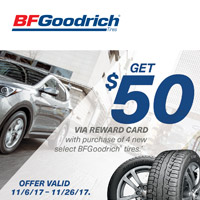 rebate image for BFGoodrich Buy 4 Get $50