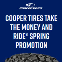 Get Up To A $100 Cooper Tires Prepaid Card or Virtual Account when you buy a new set of four (4) qualifying tires. Offer valid from April 1, 2019 - April 30, 2019.