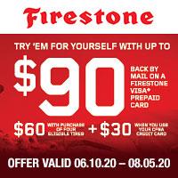 rebate image for 2020 Firestone Summer