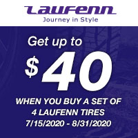 Purchase a set of four (4) select Laufenn tires and get up to $40 Prepaid Mastercard by mail.