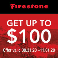 Get up to $100 Firestone Visa® Prepaid Card by mail with the purchase of 4 eligible Firestone tires.