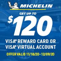 Get a $40, $80 or $120 Visa® Reward Card after online submission*