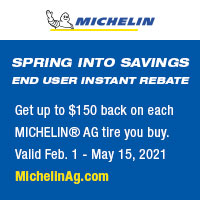 Get up to $125 back on each MICHELIN® AG tire you buy. No quantity limits – the more you buy the more you save.
