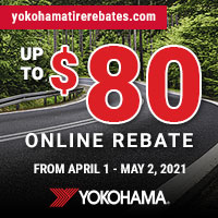 Buy 4 eligible Yokohama tires and get up to a $80 rebate