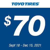 Consumer must purchase a minimum of 4 new Qualifying Toyo Tires for the same vehicle to qualify for the rebate offer.