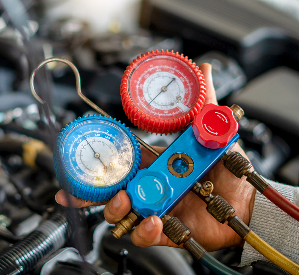 auto air conditioning gauge