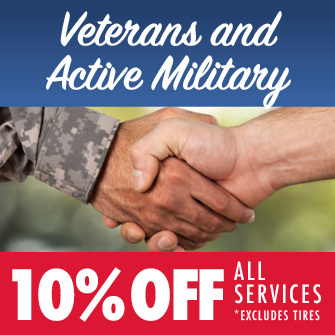 Veterans and Active Military. 10% Off All Services.