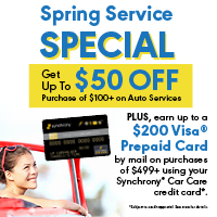 Get $20, $30 or $50 off auto services.