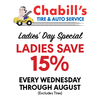 Ladies get 15% OFF every Wednesday through August!