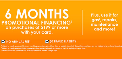 Continental Financing Info