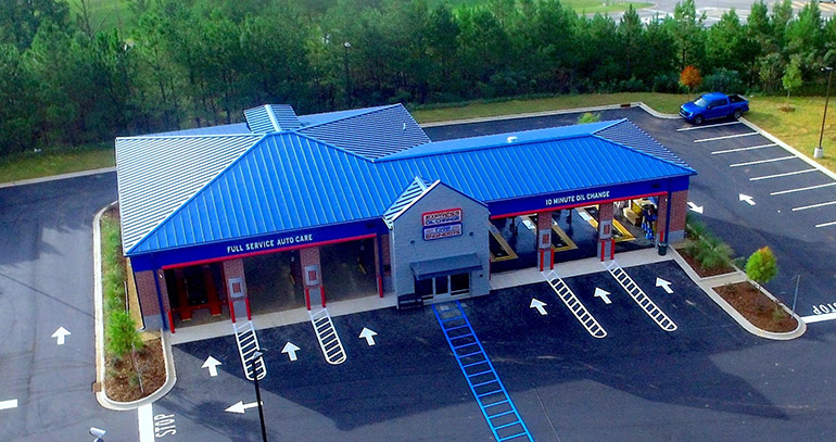 Aerial Photo New Store Express Oil Change & Tire Engineers