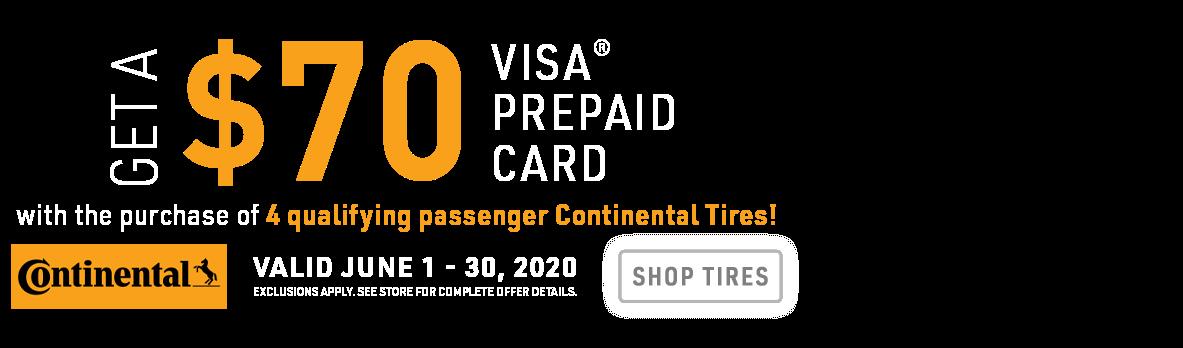 Continental Tires promo banner headline
