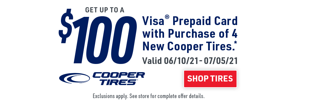 Cooper Tires promo banner headline