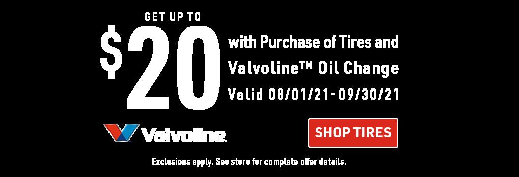 Valvoline promo banner headline