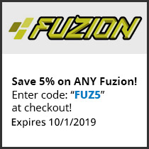 Save 5% on ANY Fuzion! Enter code