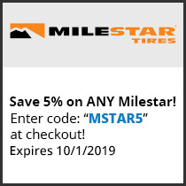 Save 5% on ANY Milestar! Enter code