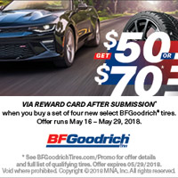 rebate image for BFGoodrich Memorial Day Promo