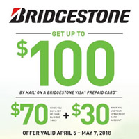 rebate image for Bridgestone Spring Promotion 2018