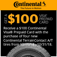 rebate image for Continental October 2018 Promotion