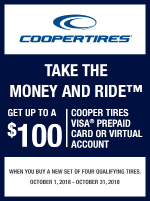Cooper Tires Fall Reward Offer 2018 Oneclicktires Tire Shopping