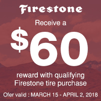 rebate image for Firestone Spring Promotion 2018