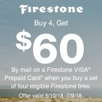 rebate image for Firestone Promotion 2018