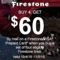 rebate image for Firestone Fall Promotion 2018