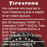 rebate image for Firestone Farm Hard Rewards 2018