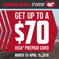 rebate image for General Tire 2018 Promotion