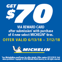 rebate image for Michelin 2018 Summer Promotion