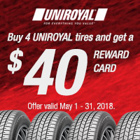 rebate image for Uniroyal Promotion 2018