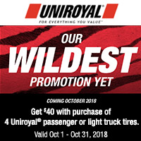 rebate image for Uniroyal October 2018 Promotion