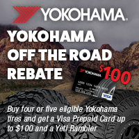 Buy four or five eligible Yokohama tires and get a Visa prepaid card up to $100
