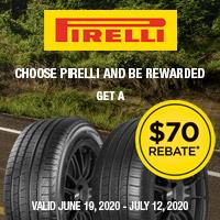 rebate image for Pirelli 2020 Summer $70 Rebate