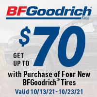 rebate image for BFGoodrich Get Up To $70 Back