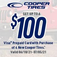 rebate image for Cooper Tires 2021 Summer Tire Reward