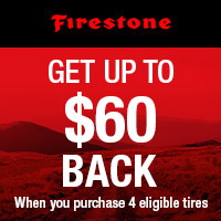 GET UP TO $60 BACK when you purchase 4 eligible tires.