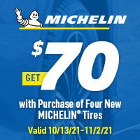 rebate image for Michelin Get $70 Rebate