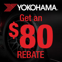 Get an $80 rebate when you buy a set of 4 Yokohama ADVAN Apex tires.