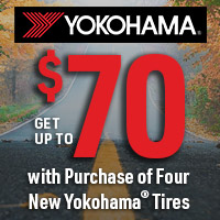Get up to $70 with purchase of four new Yokohama® Tires.